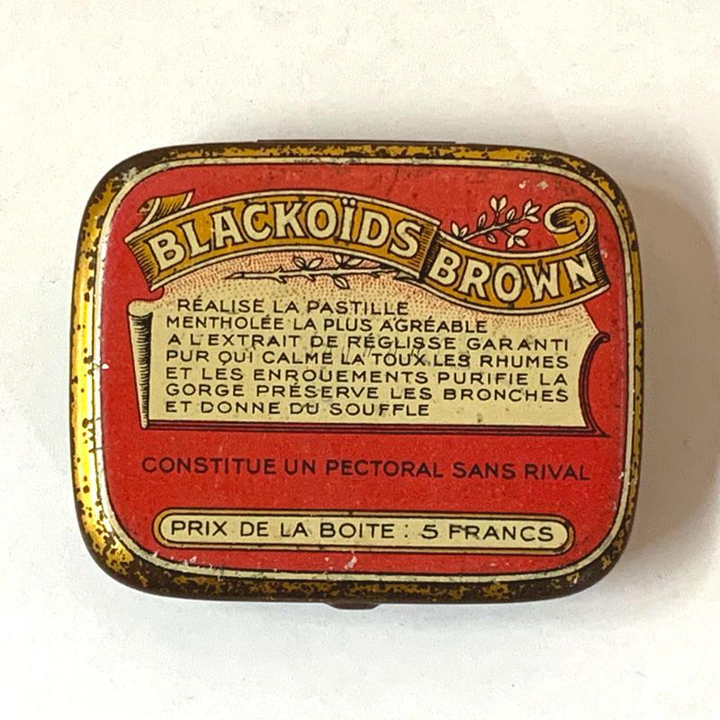 フランス/アンティーク TIN 缶/BLACKOIDS BROWN