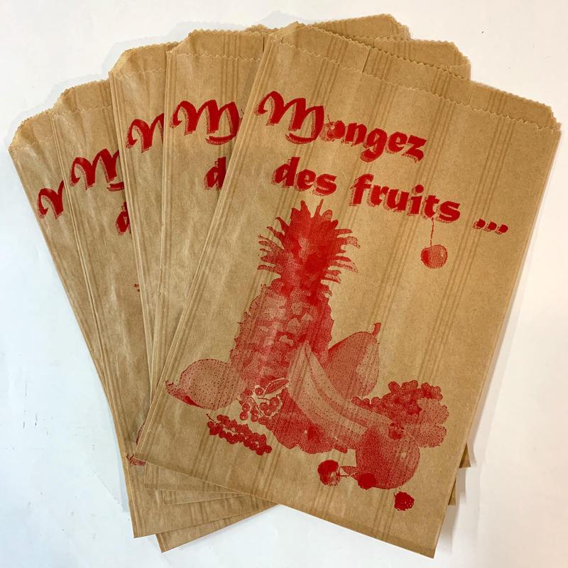 フランスマルシェ袋 (フルーツ単色)/ 5枚入り