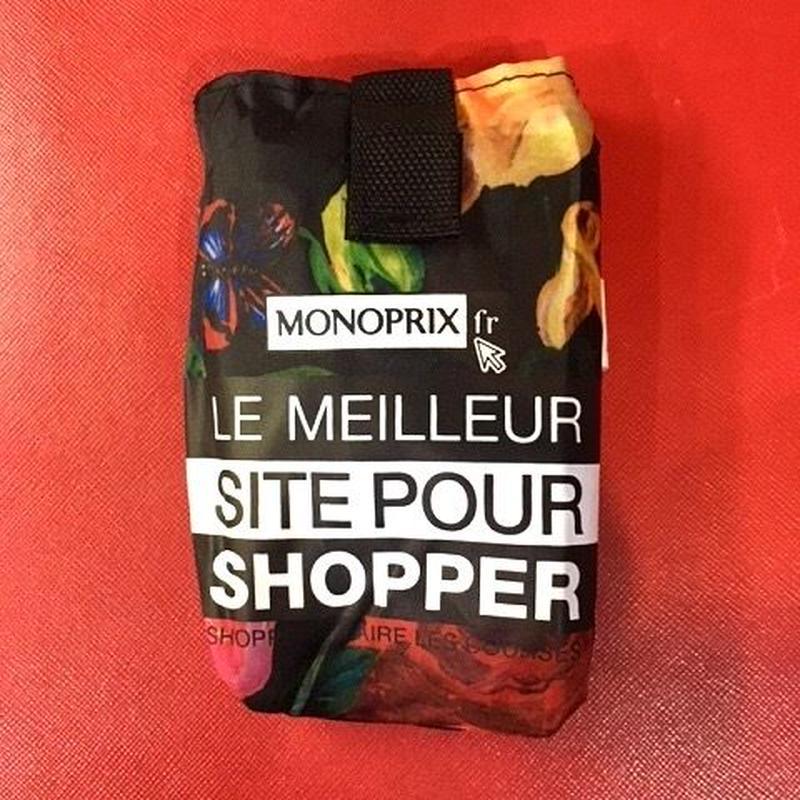 Monoprix モノプリエコバッグ / フラワー