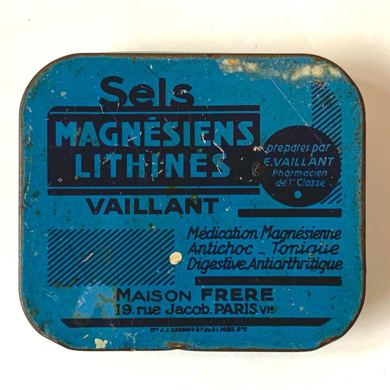 フランス/アンティーク TIN 缶/MAGNESIENS LITHINES