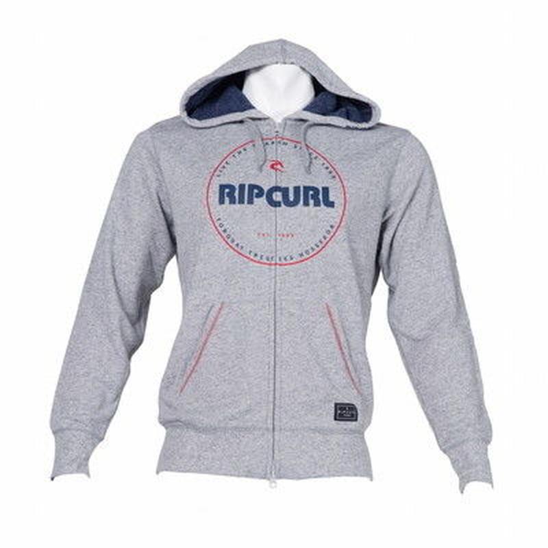 【RIP CURL】ベーシックロゴプリント ジップパーカW01-024