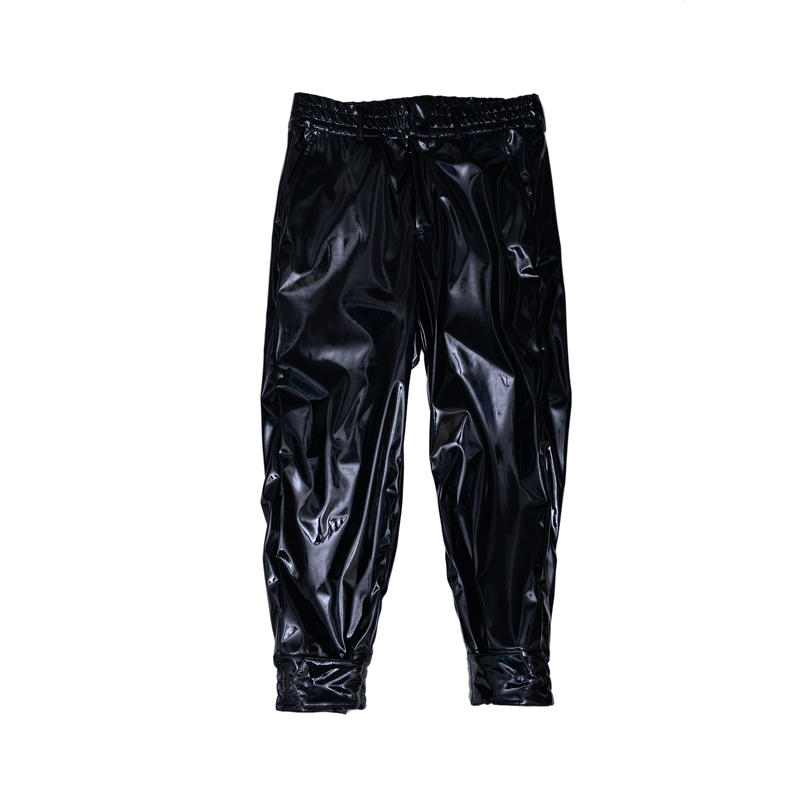 TAPERED PANTS /PATENT BLACK