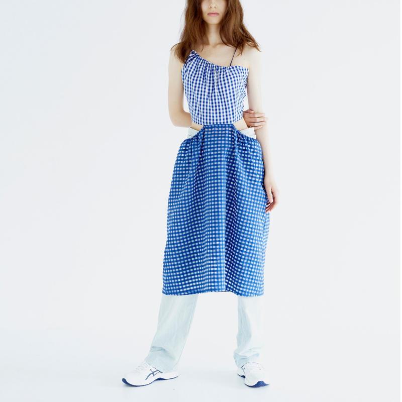 Bonding Dress_GINGHAM/BL