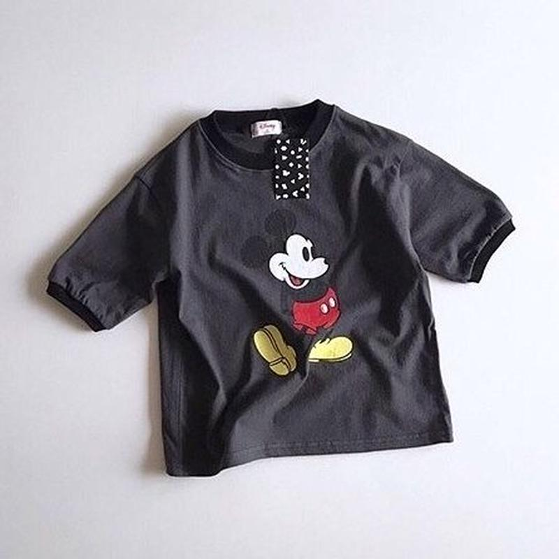 ★配色ミッキーTシャツ★4カラー(Disney公式商品)