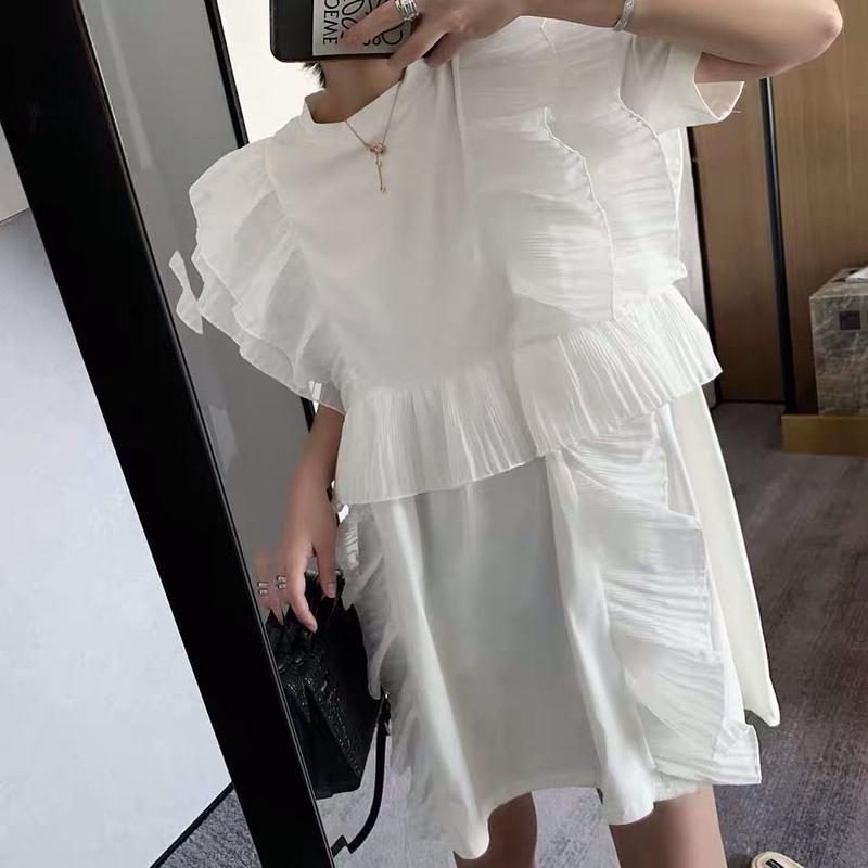 ★フリルスモッグドレス★ladies2カラー