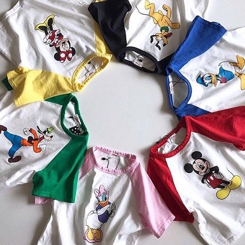 ★ディズニーキャラクターセットアップ★6カラー(Disney公式商品)