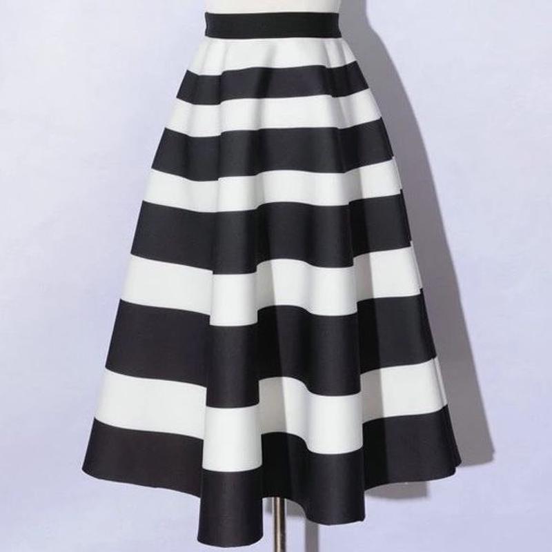 ★ボーダーボンディングスカート ★ladies