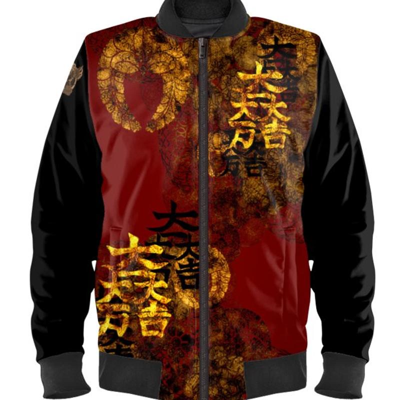 Mitsunari Ishida emblem Ladies Bomber Jacket
