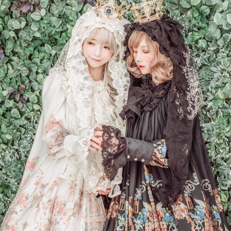 [Baroque] Baroque x KIYORE 'ROSARIA ROSARIO'  レーシーヴェールヘッドドレス&クラウン【ご予約商品、ハンドメード製作、数量限定】