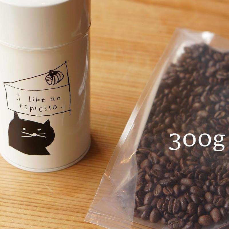 【1カ月¥2,000】【Aコース キャニスター缶付】コーヒー豆300g定期便※コーヒー豆は1ヶ月毎に、キャニスター缶は3ヶ月毎にお届け