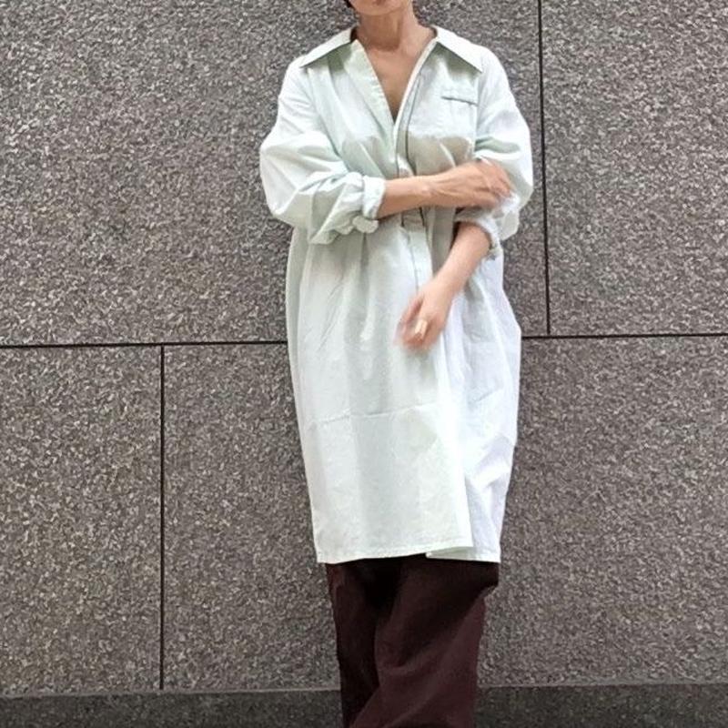 ヴィンテージ  ブラウントリム パジャマ ロングシャツ