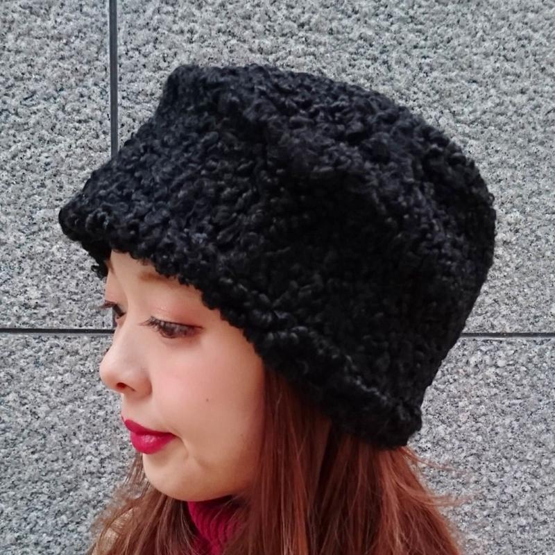 ヴィンテージ ブラックシープファーの帽子