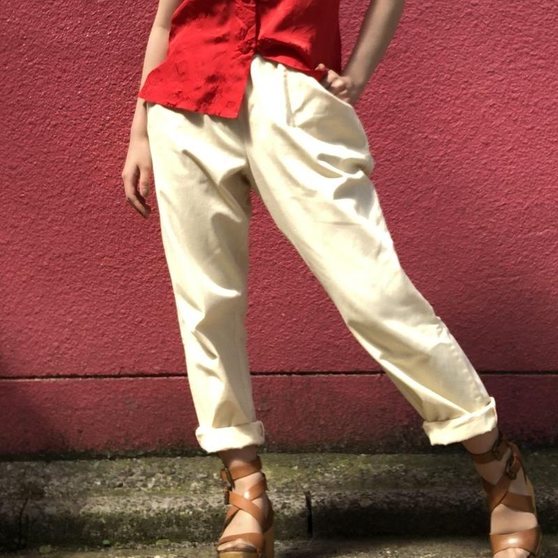 Vintage pale yellow easy pants
