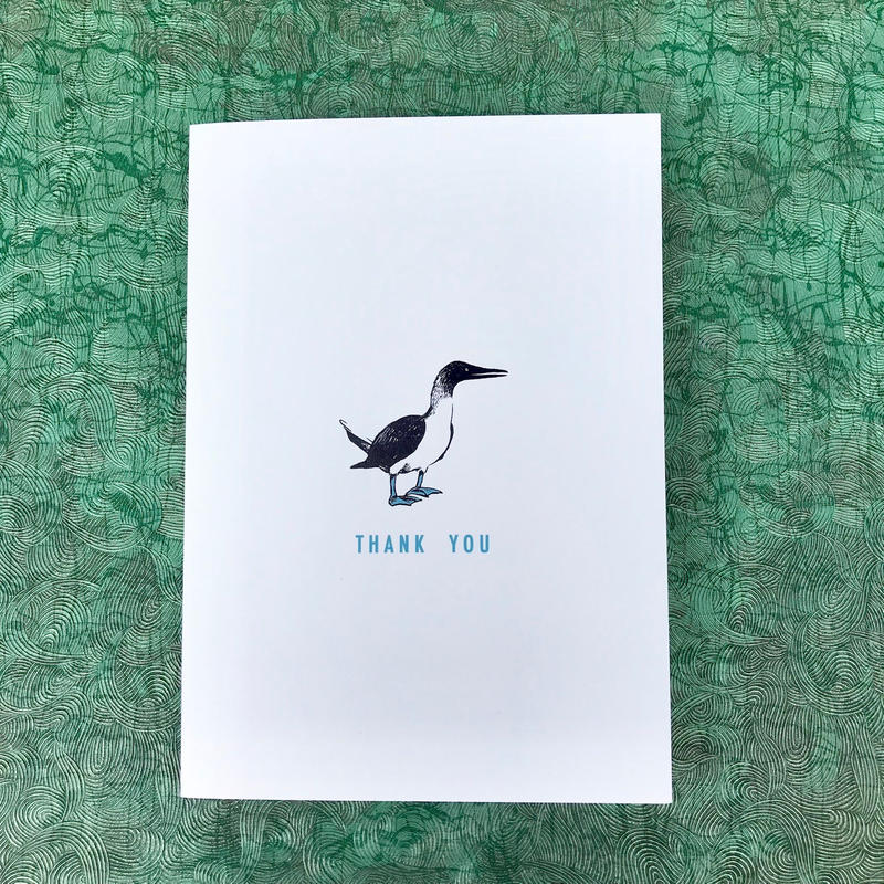 Greeting card カツオドリ