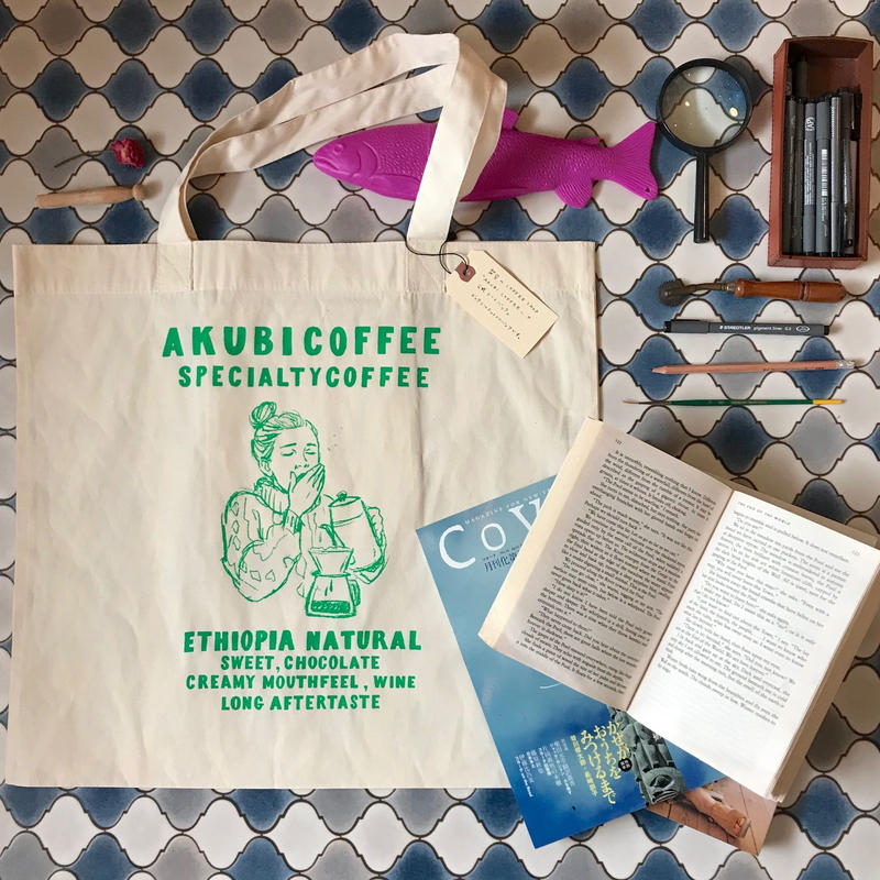 TOTEBAG [AKUBICOFFEE ]