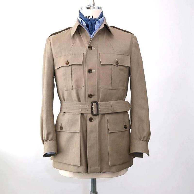 Safari Jacket/Beige Linen&Wool