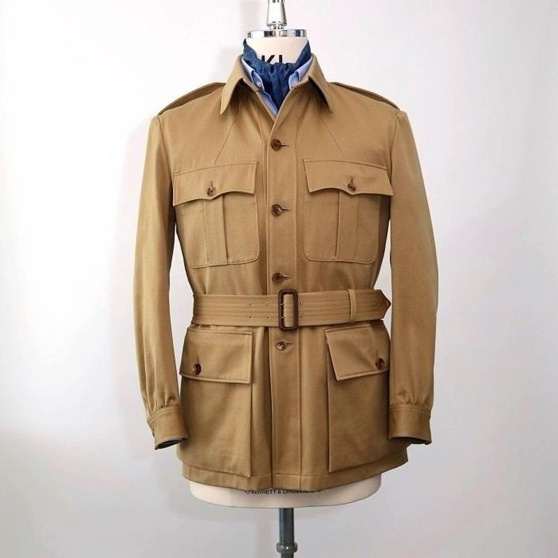 Safari Jacket/Beige Cotton