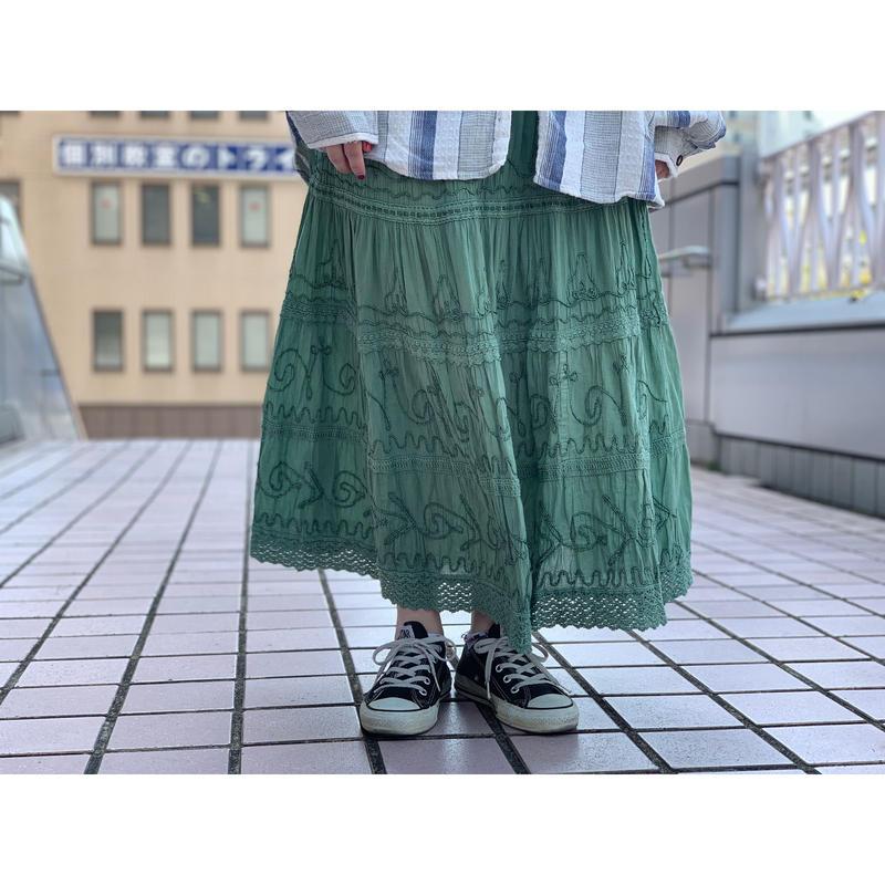 1980's インド綿スカート
