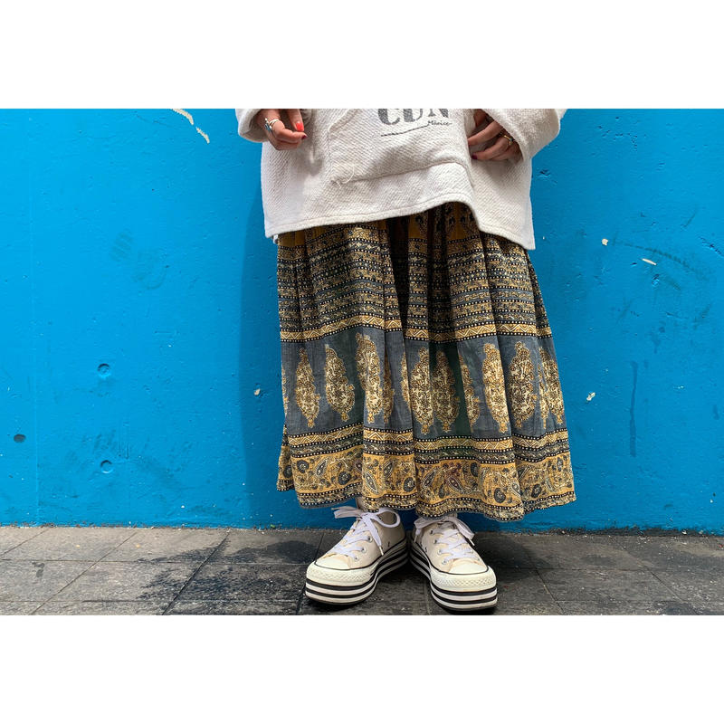 """1980's """"Zontee"""" Made In INDIA  Flare Skirt"""