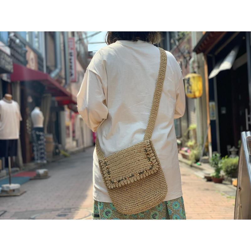 """""""Indeed"""" Straw shoulder bag"""
