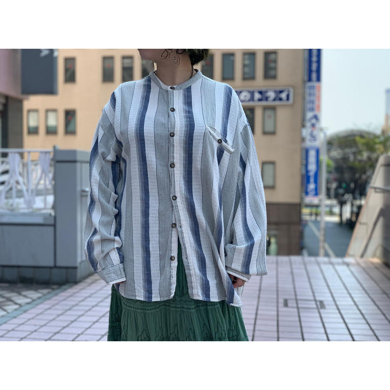 """1990's """"City Streets"""" Made In INDIA   Band Collar Shirts"""
