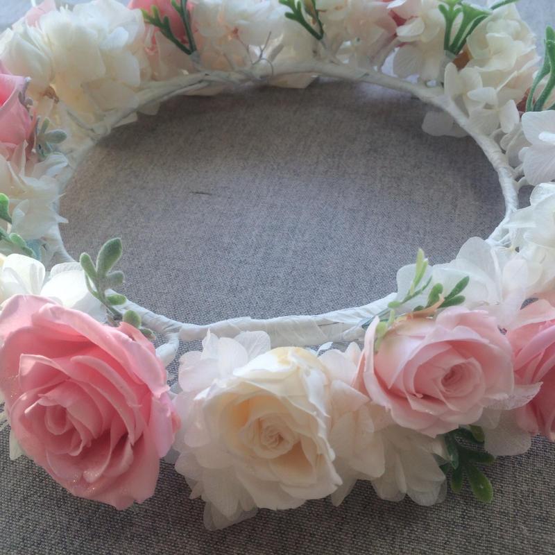プリィザーブドフラワーの花冠