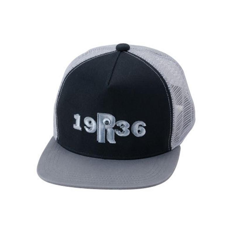 """RC-182GB 1936 アイ """"R"""" フラット バイザー メッシュ キャップ"""