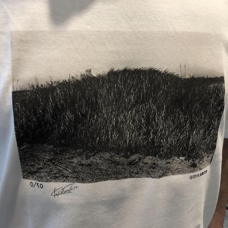尾仲浩二 背高あわだち草Tシャツ 限定50枚 浜風文庫オリジナル