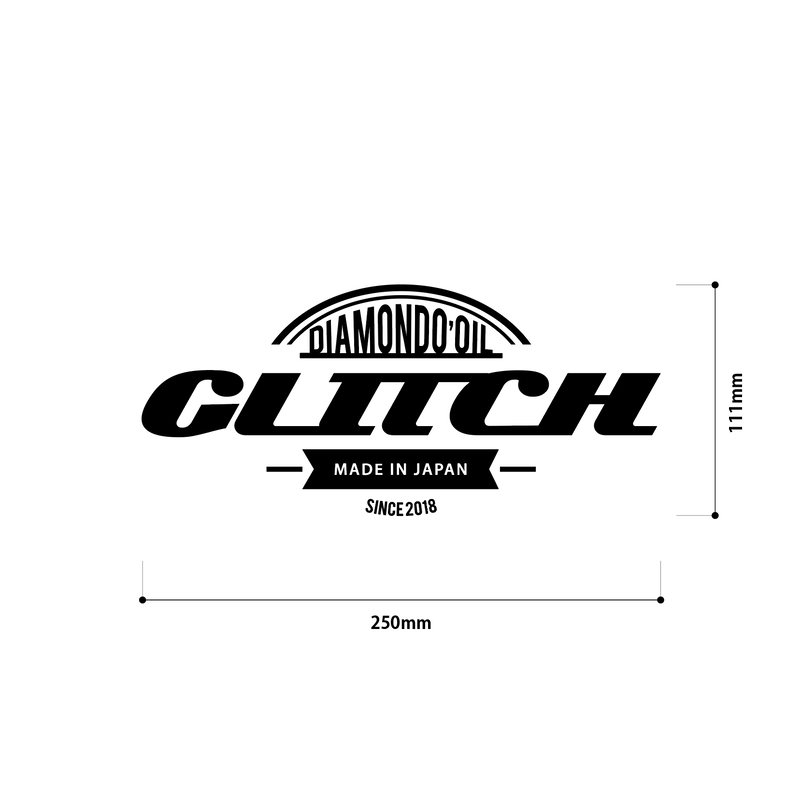 glitch oil Logo sticker 【ロゴステッカー】