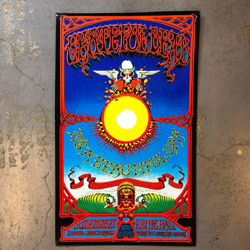 グレイトフル デッド・ハワイアン アオクソモクソア 1970・メタル サイン ボード