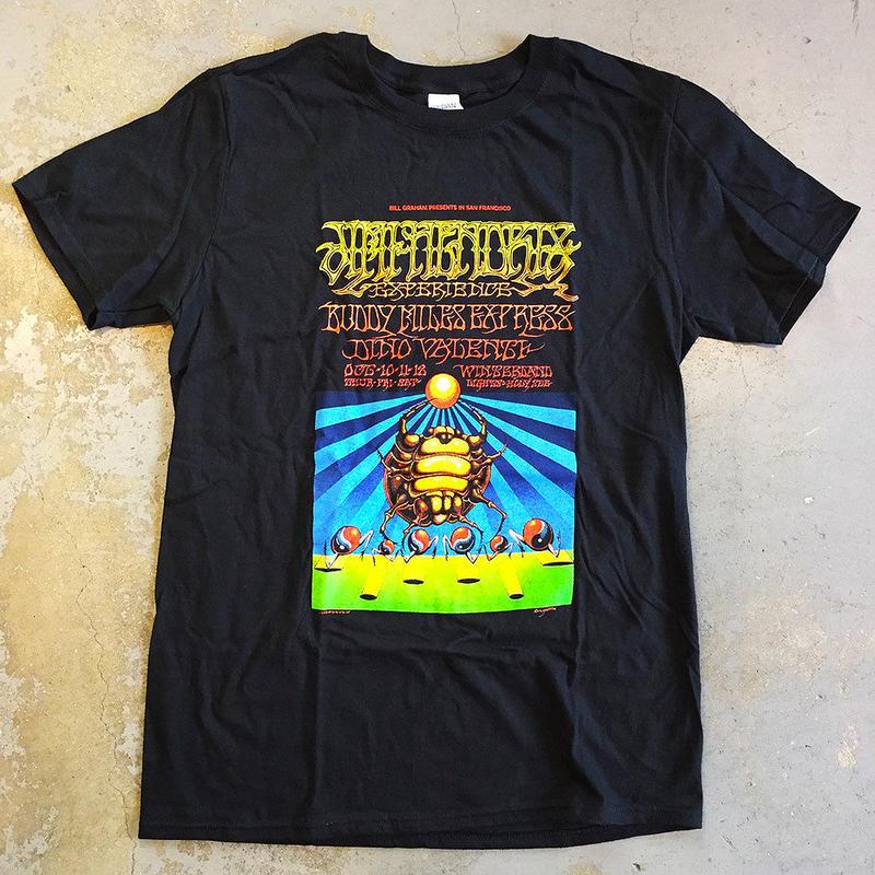 ジミ ヘンドリックス エキスペリエンス・ウィンターランド サンフランシスコ 1968 T-シャツ