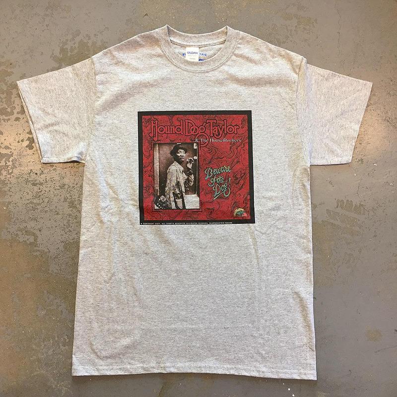 ハウンドドッグ テイラー & ザ ハウスロッカーズ・アリゲーター 猛犬注意!1976 Tシャツ