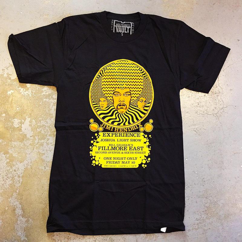 ジミ ヘンドリックス エキスペリエンス・フィルモア イースト ニューヨーク 1968 T-シャツ