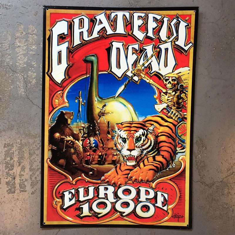 グレイトフル デッド・ヨーロッパ ツアー 1990・メタル サイン ボード