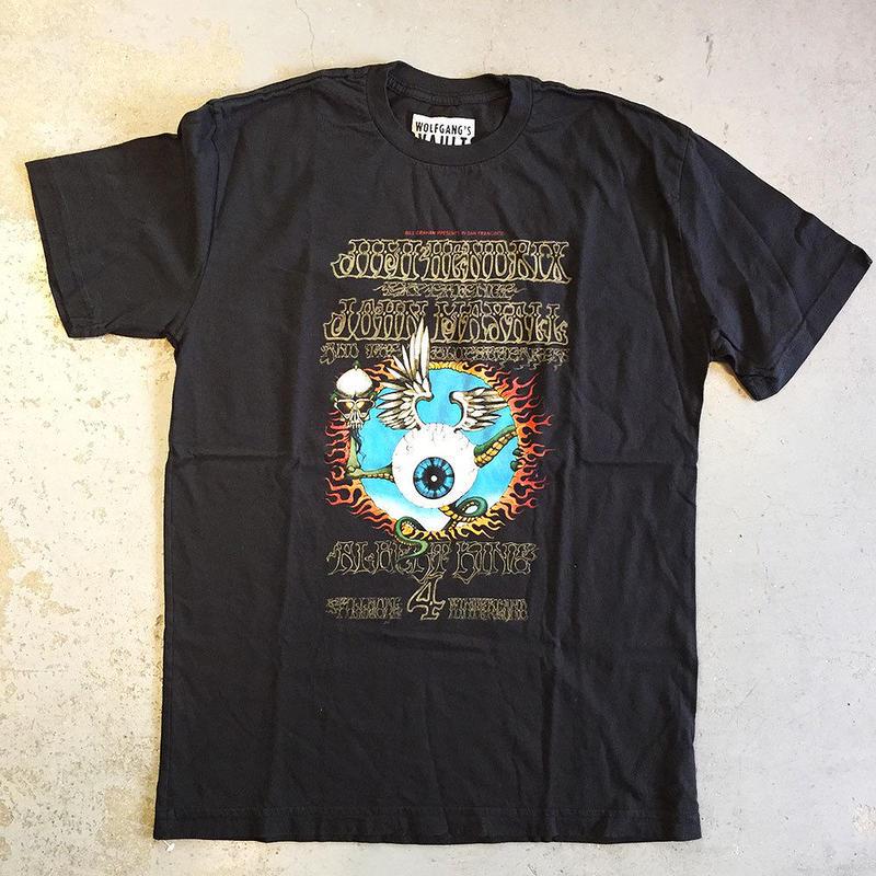ジミ ヘンドリックス エキスペリエンス・フライング アイ ボール 1968 T-シャツ ブラック