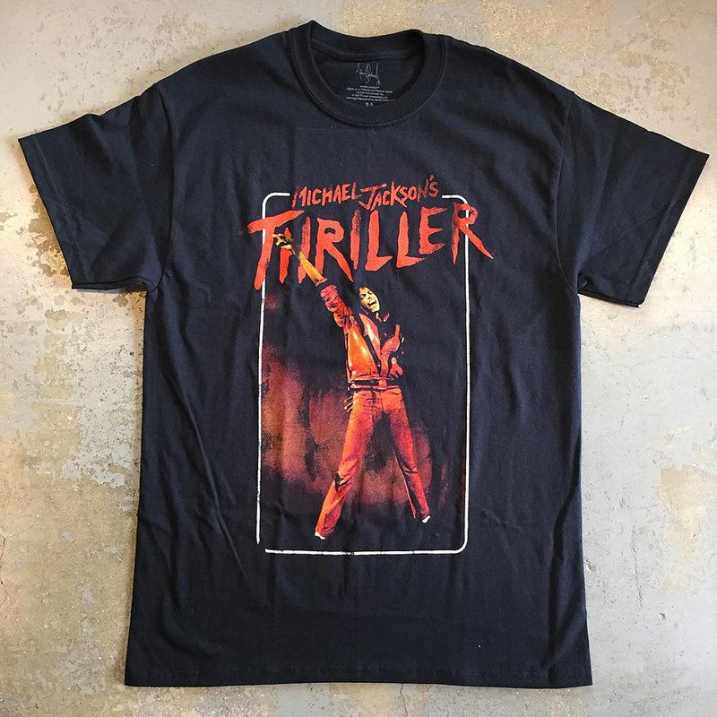 マイケル ジャクソン・スリラー 1982 T-シャツ ブラック