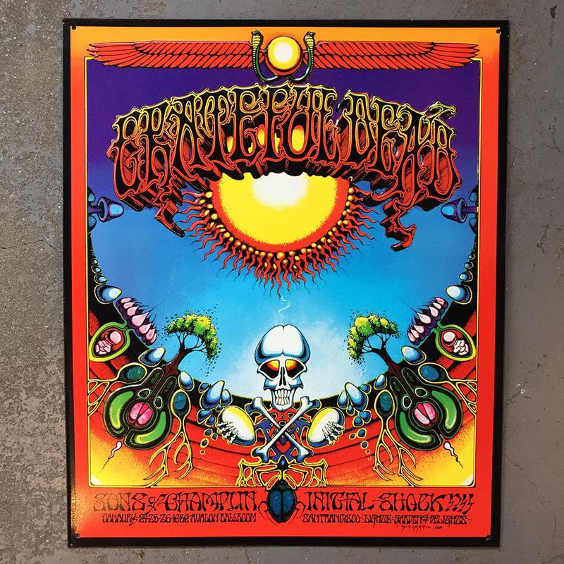 グレイトフル デッド・アオクソモクソア 1969・メタル サイン ボード