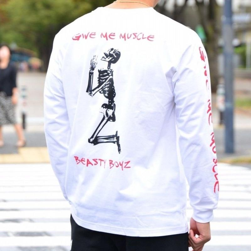 GIVE ME MUSCLEロンTシャツ カラー:ホワイト 品番:5001