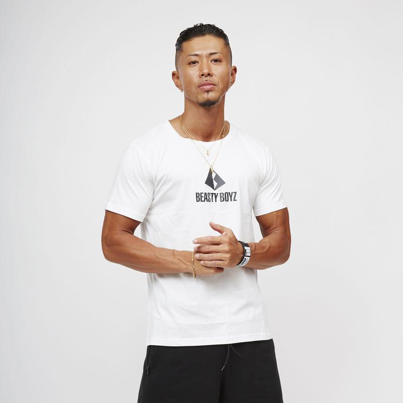 センタープリントTシャツ  カラー:ホワイト 品番:0005