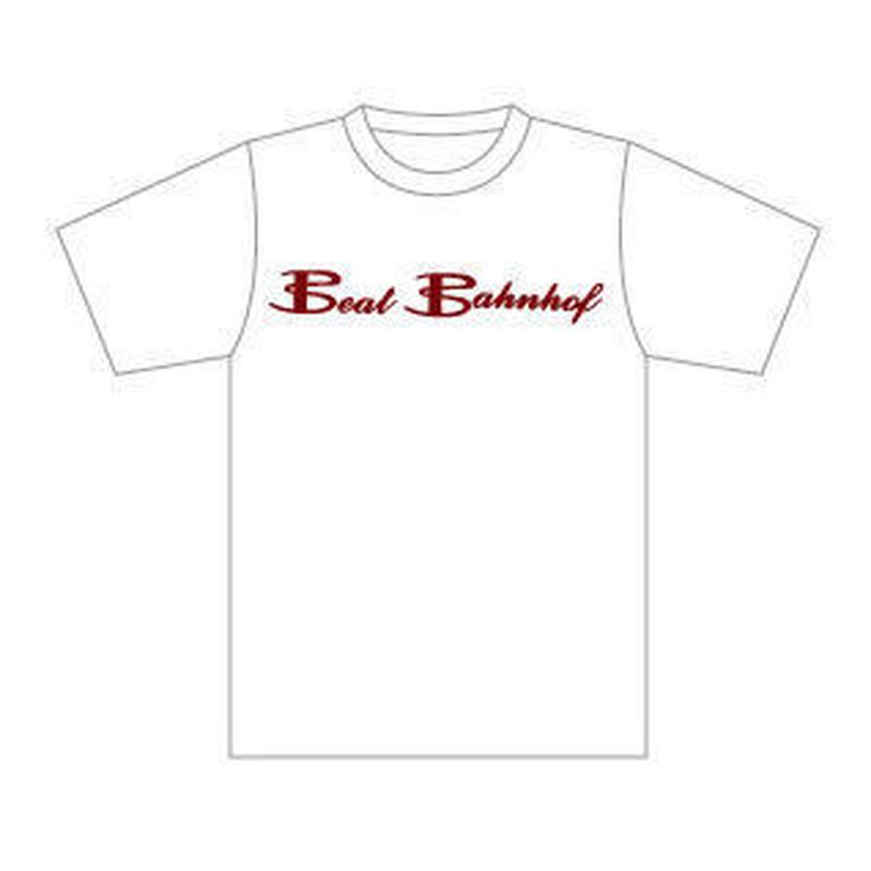Logo T-Shirt 下地カラー:白/ロゴカラー:ワイン