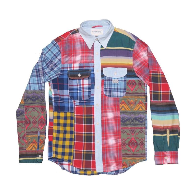 DENIM&SUPPLY Ralph Lauren(デニムアンドサプライ) パッチワークシャツ ②