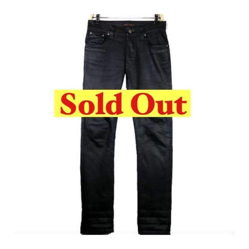 Nudie Jeans(ヌーディージーンズ)  オイルコーティングブラックデニムパンツ(THIN FINN)