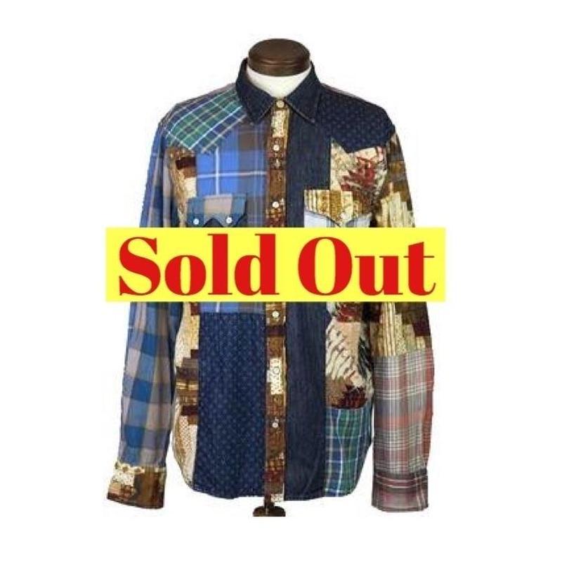 DENIM&SUPPLY Ralph Lauren(デニムアンドサプライ) パッチワークシャツ ③