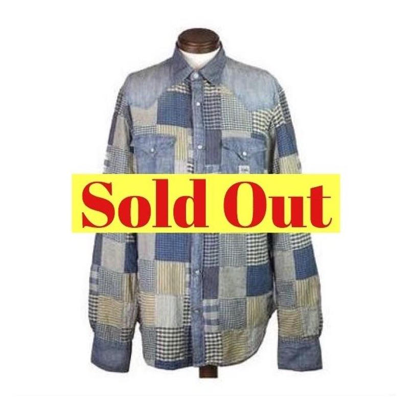 DENIM&SUPPLY Ralph Lauren(デニムアンドサプライ) ユーズド加工パッチワークデニムシャツ
