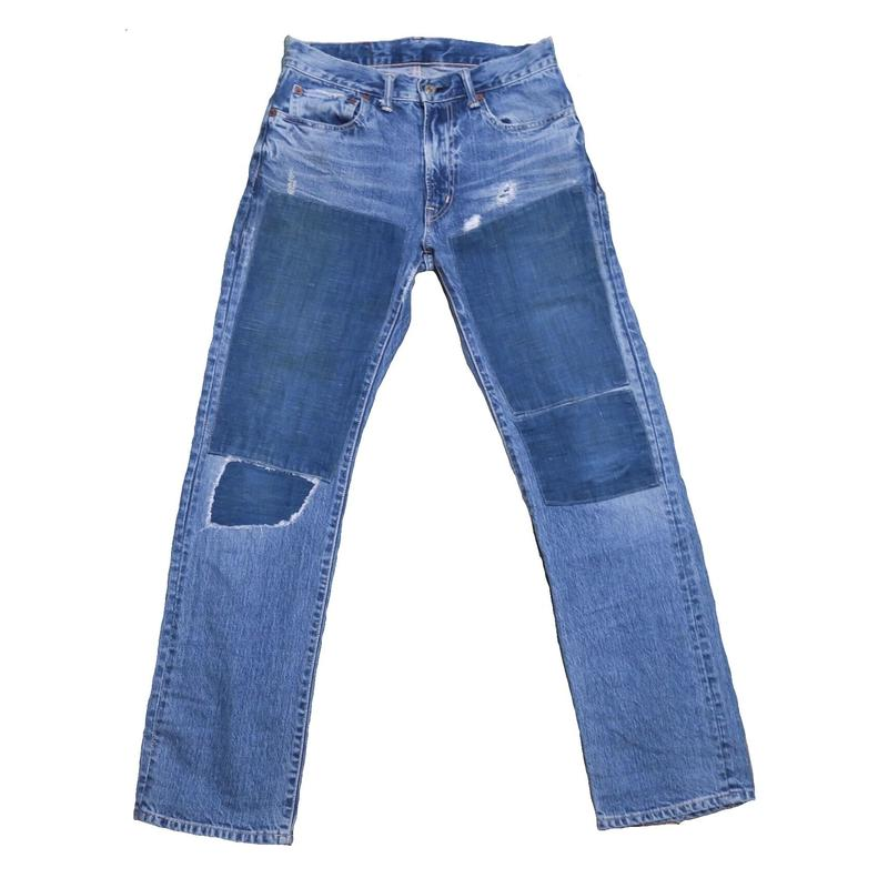 BLUE  BLUE(ブルーブルー) リメイクデニムパンツ