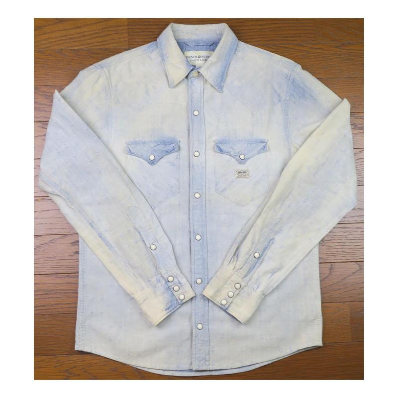 DENIM&SUPPLY Ralph Lauren(デニムアンドサプライ) ブリーチ加工デニムシャツ