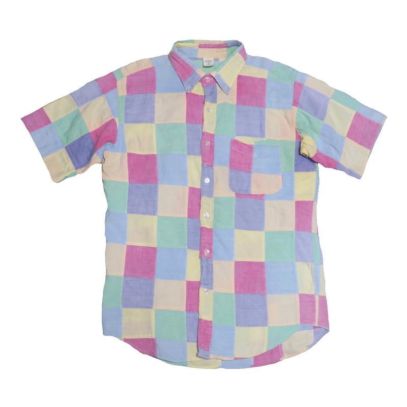 パッチワークシャツ