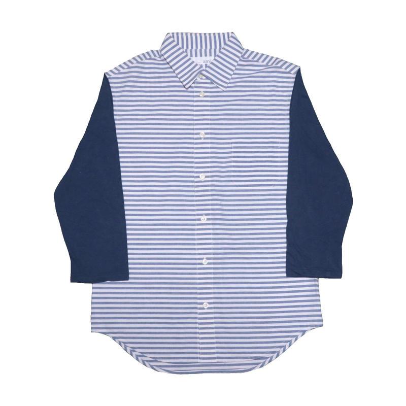 ami(アミ) ボーダー七分袖シャツ