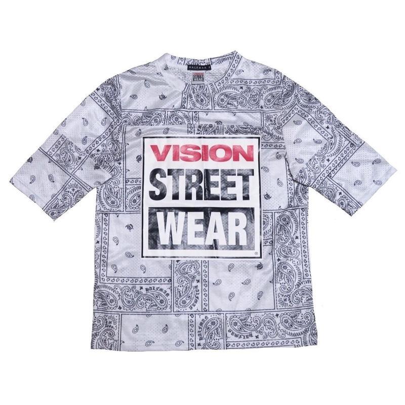 HALFMAN/VISION(ハーフマン/ヴィジョン) ペイズリー柄Tシャツ