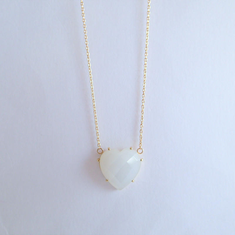Heart Pendant(ムーンストーン/ホワイト)